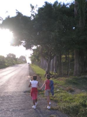 Walking towards God's promises - hand in hand - early one morning in Barbados