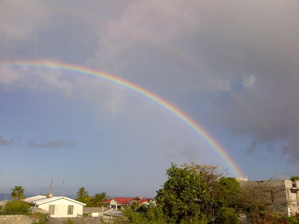 Sharing the blessing of a beautiful rainbow seen from my patio