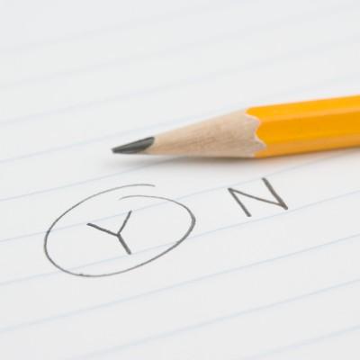 """Pencil with """"Y"""" Circled For Yes"""