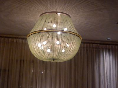 Beautiful chandeliers, also in the hotel lobby