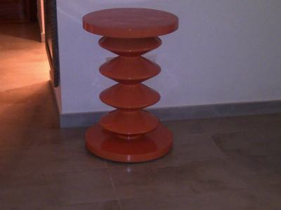 Unusual side table - attractive yet functional