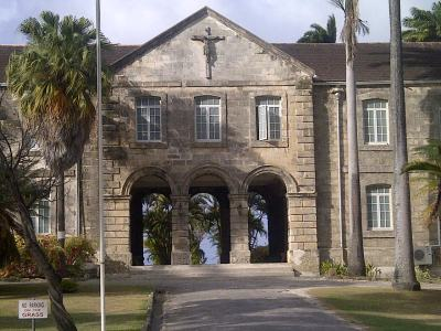 The entrance to Codrington College