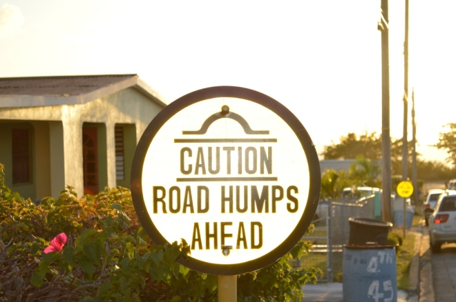 road humps ahead, life challenges