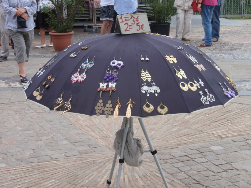 earrings and umbrellas