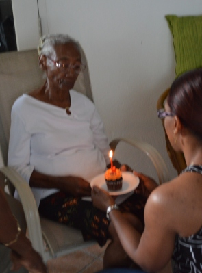 Between family: my mummy's sister aka my aunt on her birthday :-)