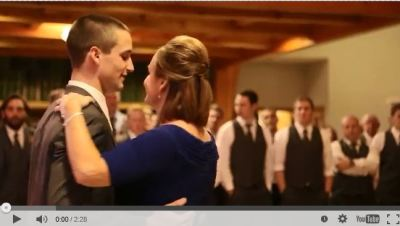getting married, mother and son dance, happy