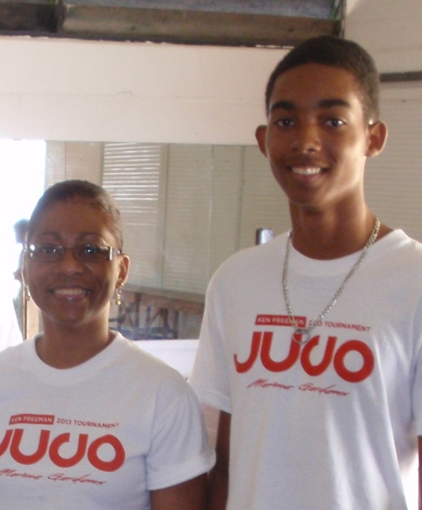 Mom and super tall son