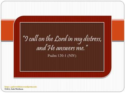 I call on the Lord in my
