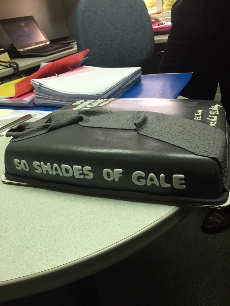 50 shades of Gale - cake spine