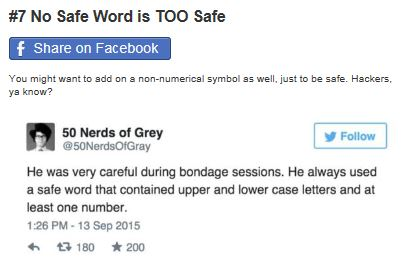 50 shades of safe words