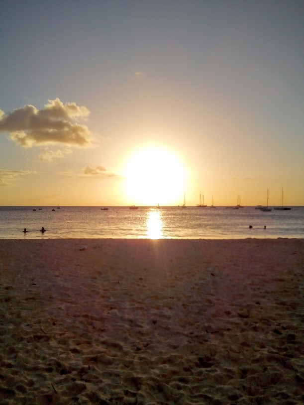 sunset at Browne's Beach Barbados