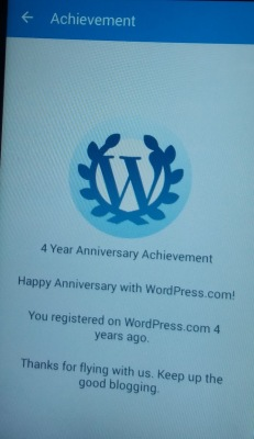 WP Happy 4th Anniversary message
