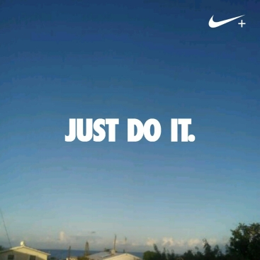 Just Do It, Nike, Running view of the sky