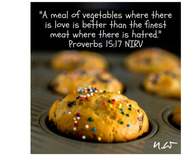 Meals, love, hatred, Proverbs 15